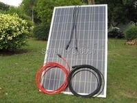 GE Stock No Tax No Duty 100W Watt Solar Panel 5m Red Black Extension Cable for Off Grid Solar generators