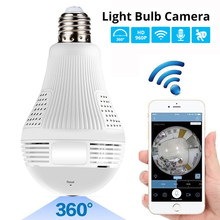 LED Light 960P 1080P Wireless Panoramic Home Security WiFi CCTV Fisheye Bulb Lamp IP Camera 360 Degree Home Security Burglar(China)