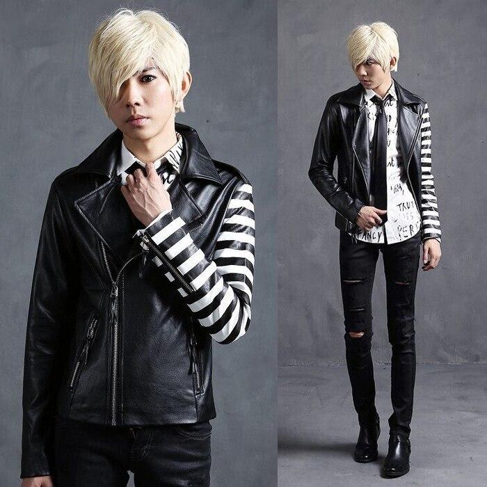 de cuero chaquetas fresco punk rock para hombre Diferentes D9YHWE2I
