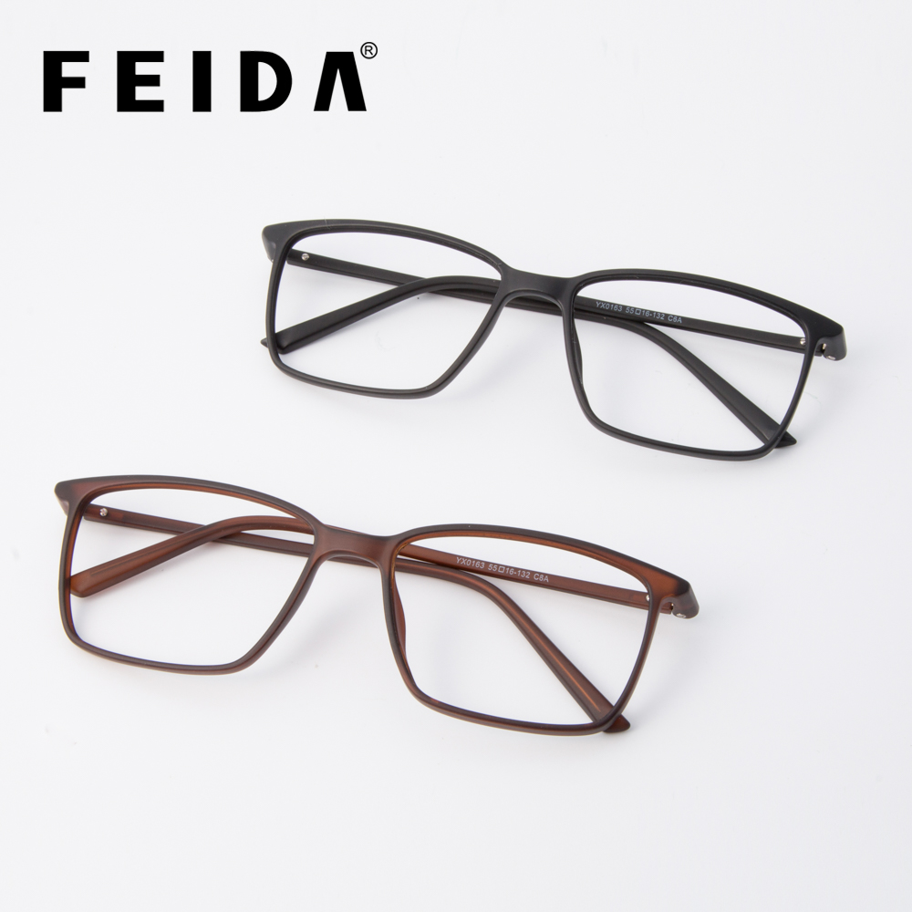 1469d5053c FEIDA Square Eyeglasses Frames Men TR90 Transparent Glasses Ultra Light  Eyewear Frames Reading Glasses Spectacle Frames for Men -in Eyewear Frames  from ...