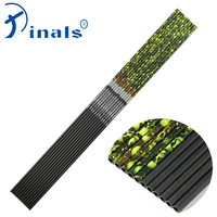 Inals Carbon Arrow Shaft Spine 300 340 400 ID6.2mm 32 Inch Yellow Skull Camo for Compound Recurve Bow Hunting Archery Shooting