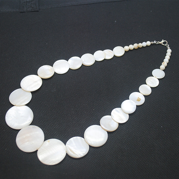 "Jaune Jade Ronde 20 mm Collier 17.5/"" en Gros Perles Grande Taille Nature Cadeau"