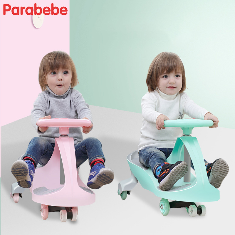 New Ride On Toy Wiggle Car Toys For Kids Lightweight Baby Stroller Twist Go Swivel Scooter Children Pram For Boys and Girls