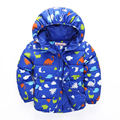 kids winter parka coat 2017 baby winter long sleeve cartoon jacket children cotton-padded clothes kids christmas outwear 2-7T