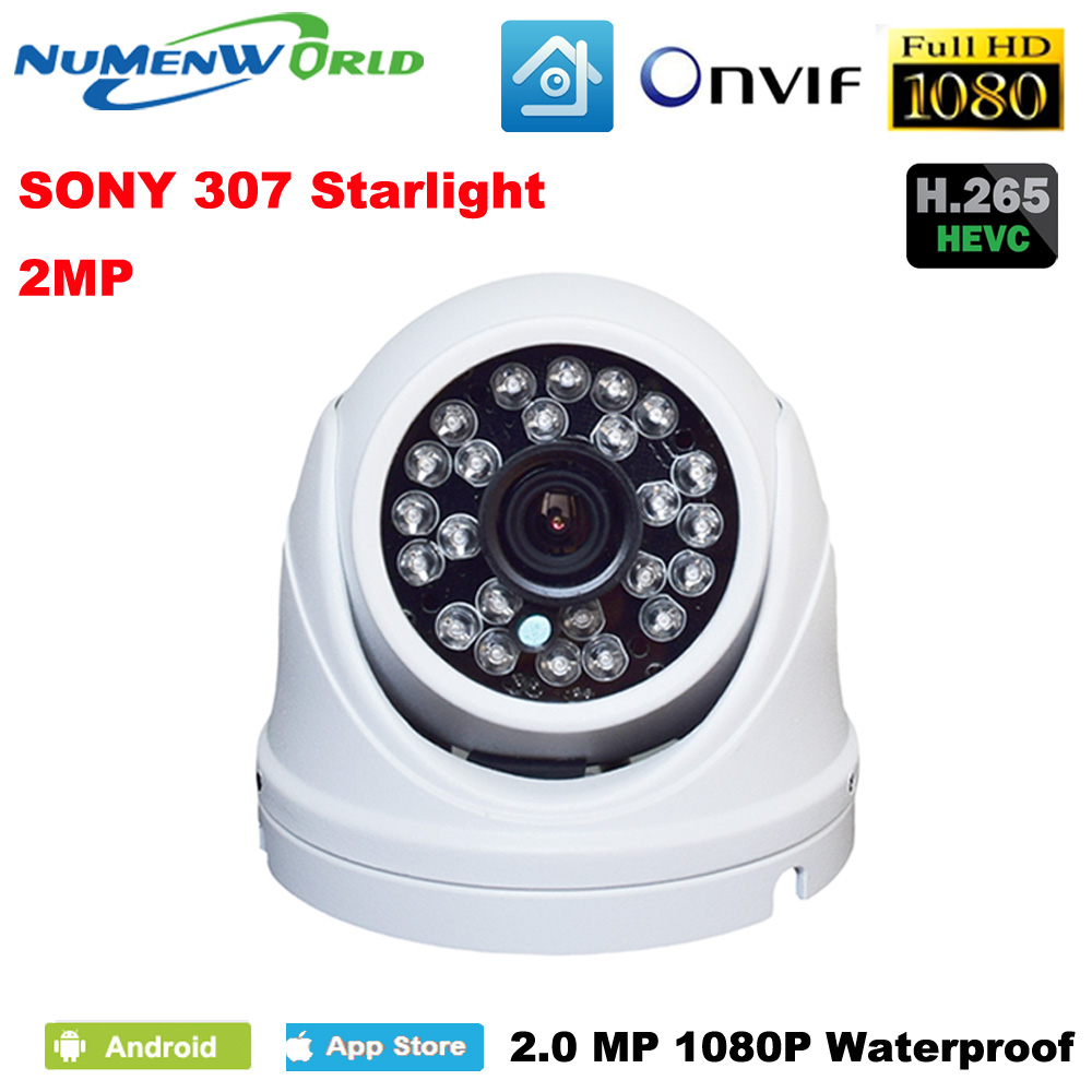 Best Mini IP camera 1080p Outdoor Network Waterproof Home Security Camera 2.0MP Onvif 24 IR Led Dome Camera for day/night use savvypixel 4mp network security camera indoor outdoor 1080p hd wdr network vandal proof ir mini dome camera day night