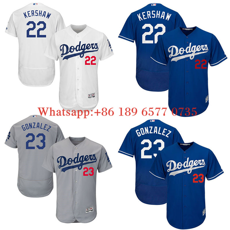 71bdff124c9 ... hot Los Angeles Dodgers Clayton Kershaw 23 Adrian Gonzalez Majestic  White Home Flex Base Authentic Collection ...
