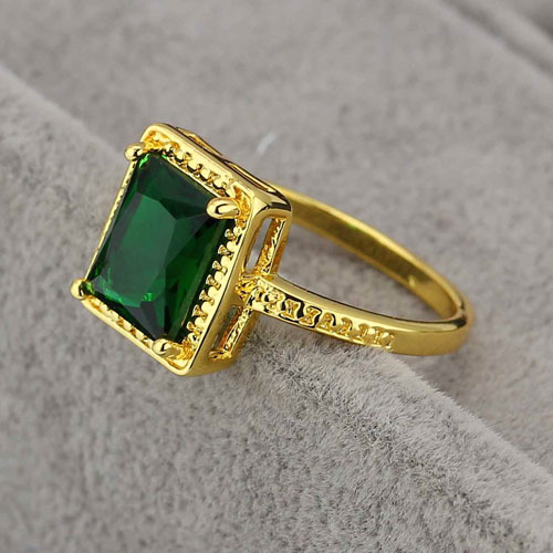 LR1003 Supernova Sale Green Crystal Lady Ring Elegant Design CZ