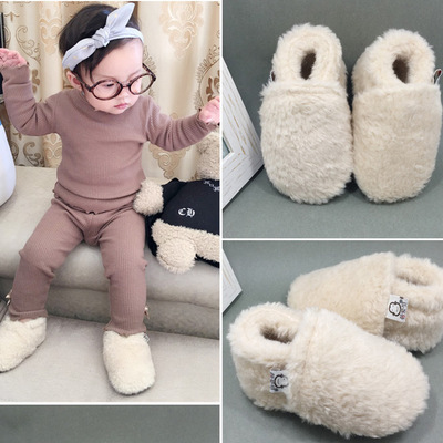2019 Brand New Infant Toddler Baby Boy Girl Soft Sole Crib Newborn Non-slip Shoes Sneaker Winter Warm Solid Boots 0-18 Months