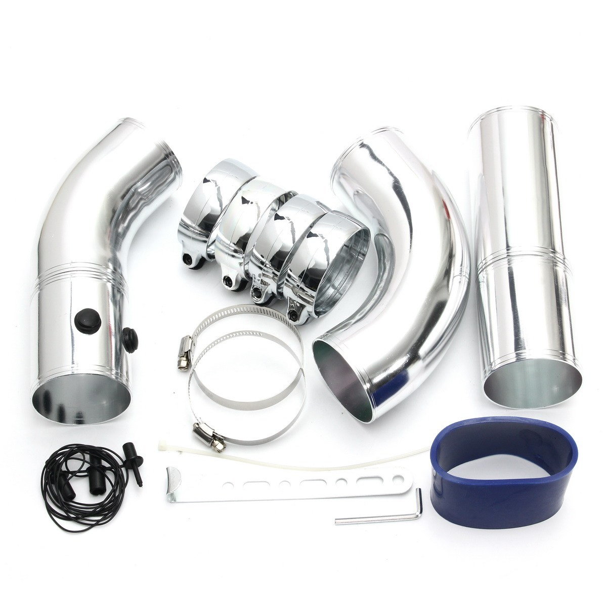 Universal 3 inch Air Intake Pipe/aluminum Alloy Intake Pipe Kit Turbo Direct Cold Air Filter Injection System f007 vacuum pump intake air filter assembly fan air filter assembly interface 3 inch wire height 258mm outside diameter 222mm