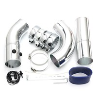 Universal 3 Inch Air Intake Pipe Aluminum Alloy Intake Pipe Kit Turbo Direct Cold Air Filter