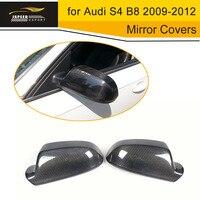 Fibra de carbono Tampa Espelho Lateral Capa Espelho Retrovisor Para Audi para Audi A4 B9 LHD 13-16 Sem Pista side Assist Adicionar Em Estilo
