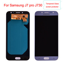 J730 Super Amoled LCD For Samsung Galaxy J7 Pro 2017 J730 J730F LCD Display and Touch Screen Digitizer Assembly