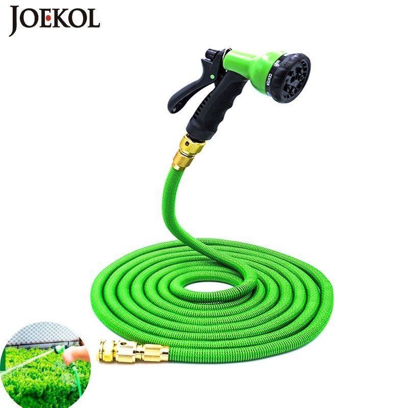 2020NEW 25Ft-200Ft US Eu Garden Expandable Hose Magic Flexible Water Hose Plastic Hoses Pipe With Spray Gun To Watering,Car Wash(China)