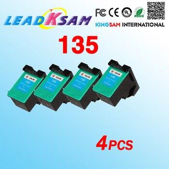 4x compatible para hp135 cartucho de tinta para 135 C8766H 2710, 2610, 6840, 325 Uds 2355, 7830 de 2570 Psc1510