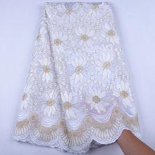 Robe de mariée en dentelle nigériane, Voile de coton sec africain, de haute qualité, collection 2019, Y1558