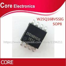 100 PIÈCES W25Q16BVSSIG SOP8 W25Q16 25Q16BVSIG SMD W25Q16BVSIG SOP 8 IC Dorigine