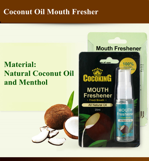 100% Natural Coconut Oil Extract Mouth Freshener for Relieving halitosis Fetid Breath Treatment /Mouth Fresh Breath Freshener