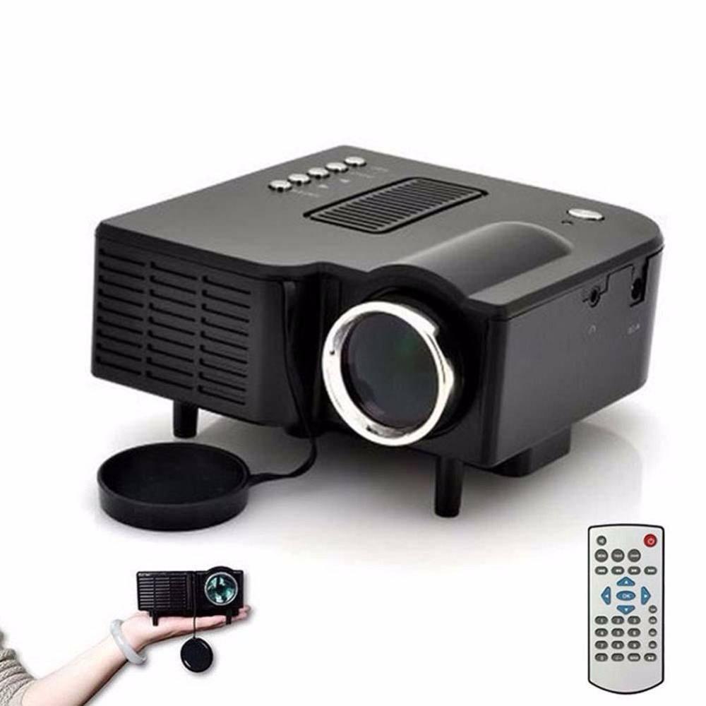 HD 1080P LED Multimedia Projector Home Theater Cinema AV TV VGA HDMI USB SD A458 for Home Mini Theaters Schools,Offices