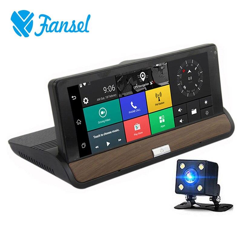 Voiture Dash Caméra GPS Navigation Android 5.0 3g WIFI Full HD 1080 p Vidéo Enregistreurs Double Lentille Voiture DVR bluetooth Tableau de Bord Caméra