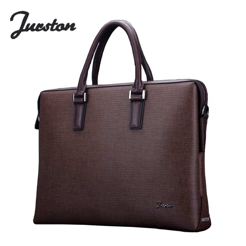 New collection Wire man bag genuine leather handbag commercial notebook cowhide briefcase one shoulder cross-body  bags