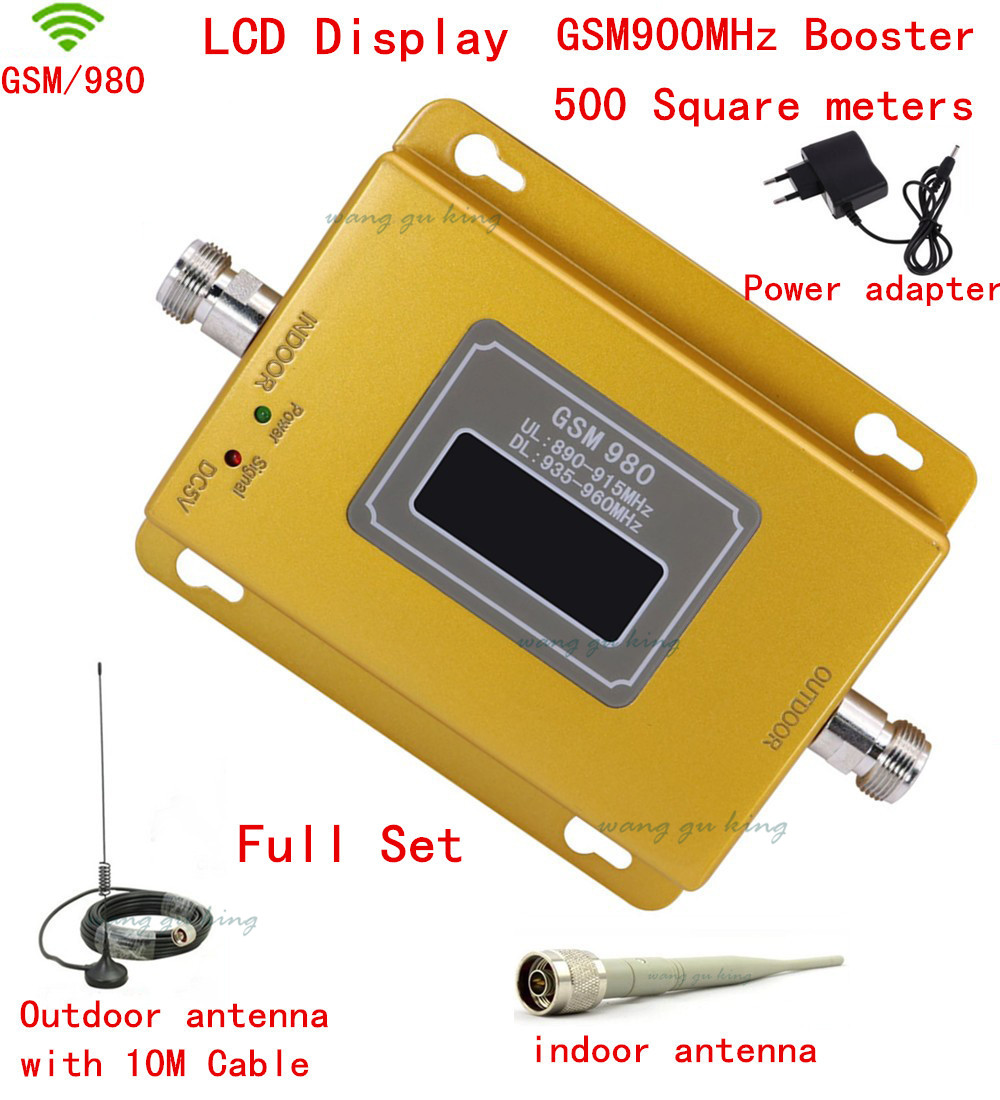 LCD Display ! GSM 900MHZ GSM 980 Wireless Mobile Phone Signal Repeater Booster ,Cell Phone Signal Amplifier kit with antennaLCD Display ! GSM 900MHZ GSM 980 Wireless Mobile Phone Signal Repeater Booster ,Cell Phone Signal Amplifier kit with antenna