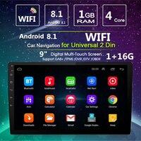 2DIN 10,1 ''Android 8,1 стерео 4 ядра WI FI DAB gps Nav Радио Видео плеер MP5 плеер Авто электроники