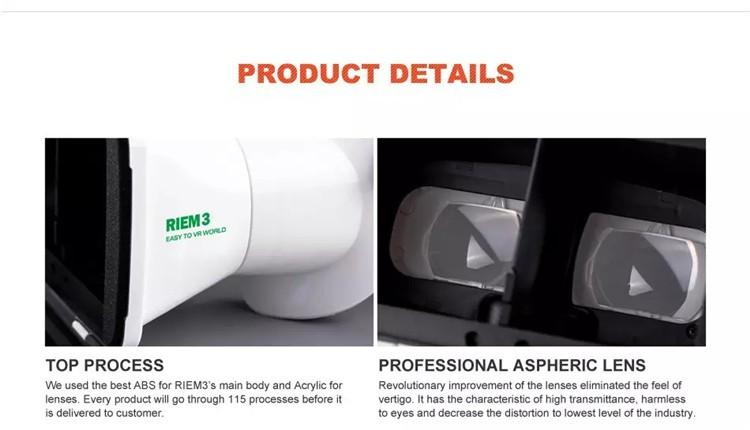 New Ritech III 3D VR Glasses RIEM3 Virtual Reality Head Mount Google Cardboard Oculus Rift DK2 Box for 4.7 ~ 6.0 Inch SmartPhone (19)