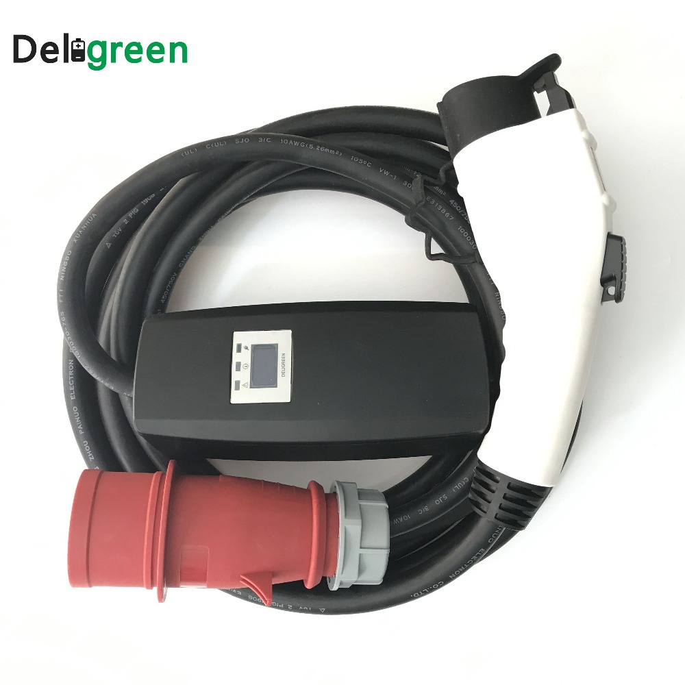 Waterproof J1772 type1 EV Car charging Level 1 16A 32A Red CEE EVSE Charger Station for e bike,bicycle,Motor Supply Equipment