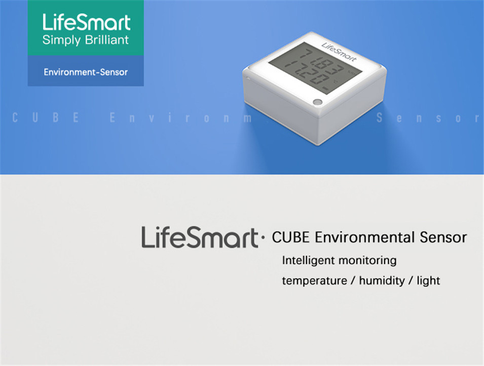 3 --- Lifesmart Multifunctional Environment Sensor 433MHZ Monitor Indoor Temperature, Humidity App Realtime View Remote Control by APP
