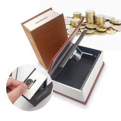 Портативный мини-Сейф, книга с тайником для денег, безопасный замок, наличные деньги, монета, хранилище ювелирных изделий, ключевой замок