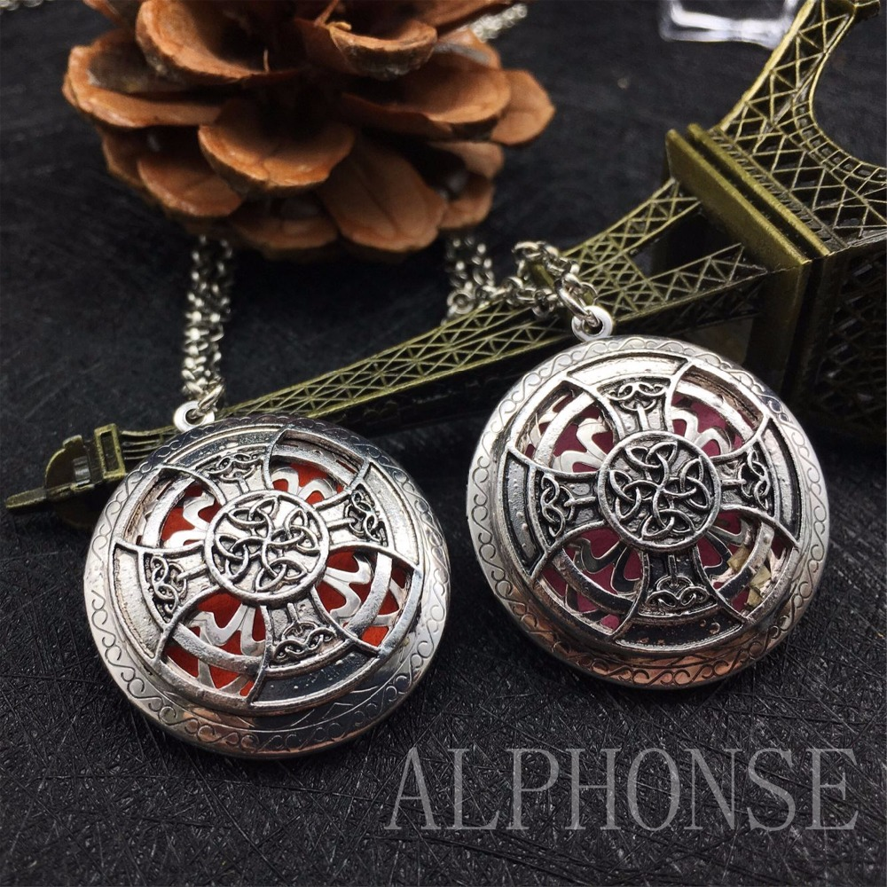 1 package classic style sweater sweater necklace cross necklace aromatherapy essential oil necklace Christmas