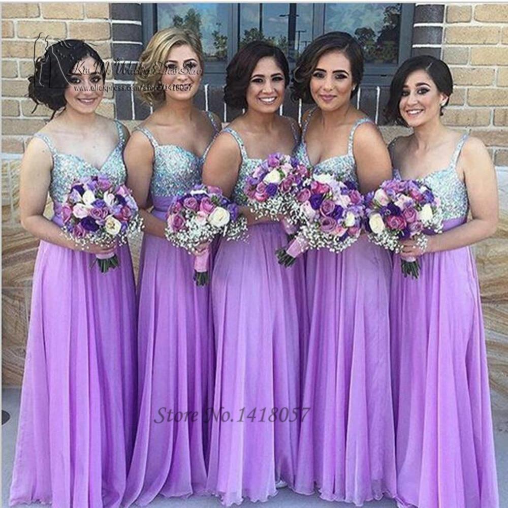 Aliexpress.com : Buy Robe demoiselle d'honneur Purple Bridesmaid ...