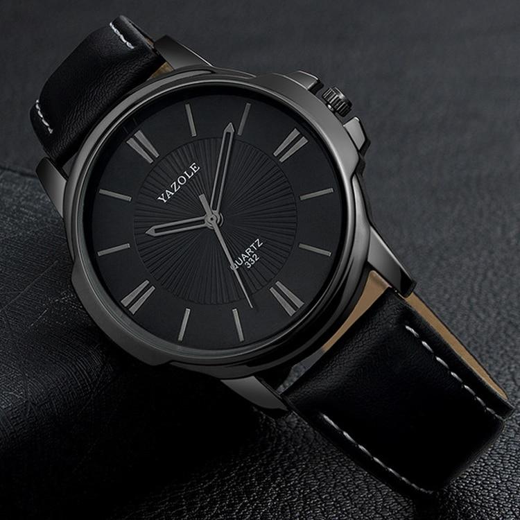 Black Business Wrist Watch Men Watches Famous Brand PU Leather Wristwatch New Male Quartz Watch For Men Clock Hours Hodinky Men