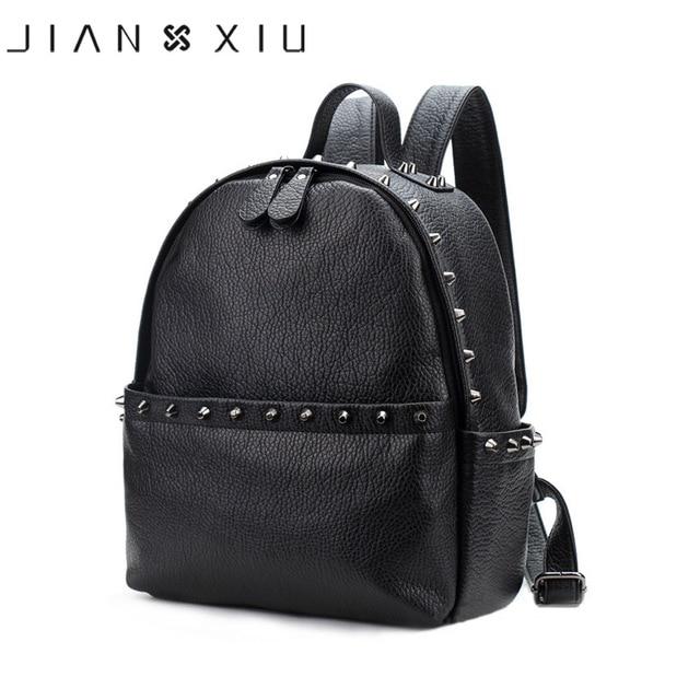 7b6a0b4985e7 JIANXIU бренд женский рюкзак из искусственной кожи Школьные сумки Mochila  Feminina Bolsas ...