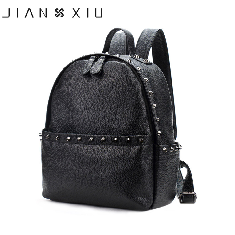 JIANXIU Brand Women Backpack Pu Leather School Bags Mochilas Mochila Feminina Bolsas Mujer Backpacks Rugzak Back
