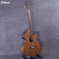 DIDUO Hot 40 Inch Acoustic Guitar Folk Guitar Rosewood Fingerboard Sapele Guitarra With Five Segment Equilibrium