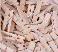 50 PCS/Lot Mini pinces à bois pinces à linge pinces pour papier Photo artisanat Photos papiers vêtements chevilles décoration de la maison