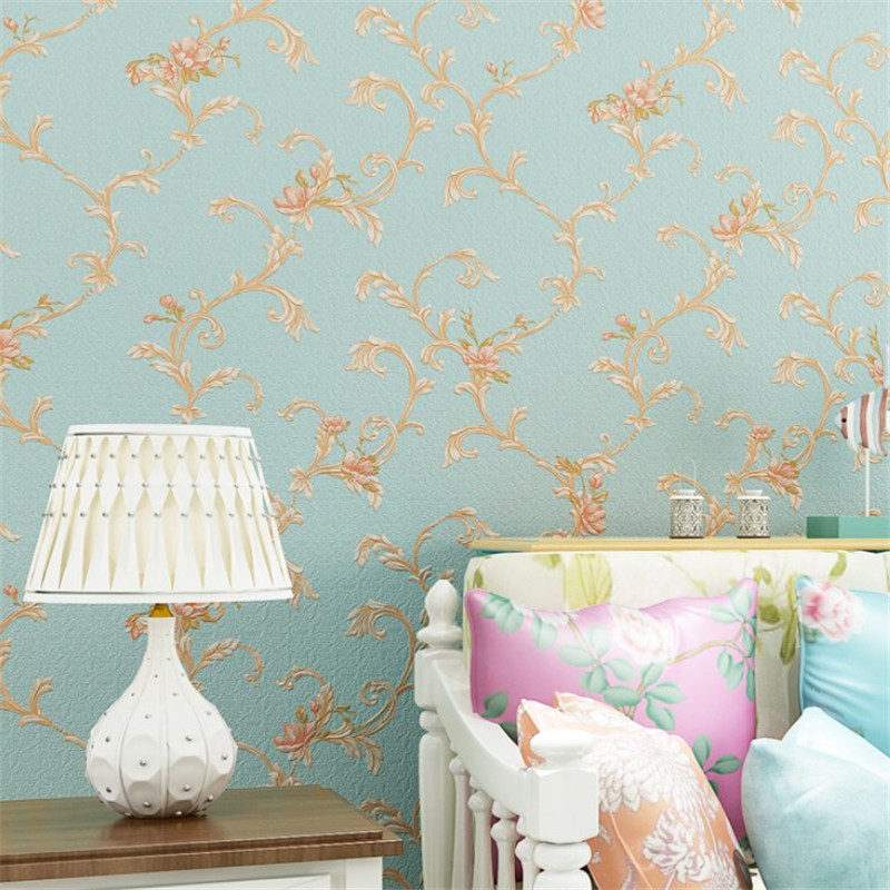 European pastoral style 3D three-dimensional pattern waterproof PVC wallpaper bedroom living room home decoration papel de pared beibehang warm european style pastoral network wallpaper living room bedroom tv 3d solid thick three dimensional wallpaper