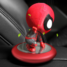 2019 new Car Air Freshener Spiderman Styling Auto Air Conditioner Purifier Car Solid Air Freshener Perfume 1pcs car air freshener replacement car perfume car styling conditioning air vent perfume in the car solid freshener air purifier