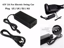 36v Scooter Power Adapter Charger For 2 Wheel Balance  Hoverboard Swagway 42V 2A