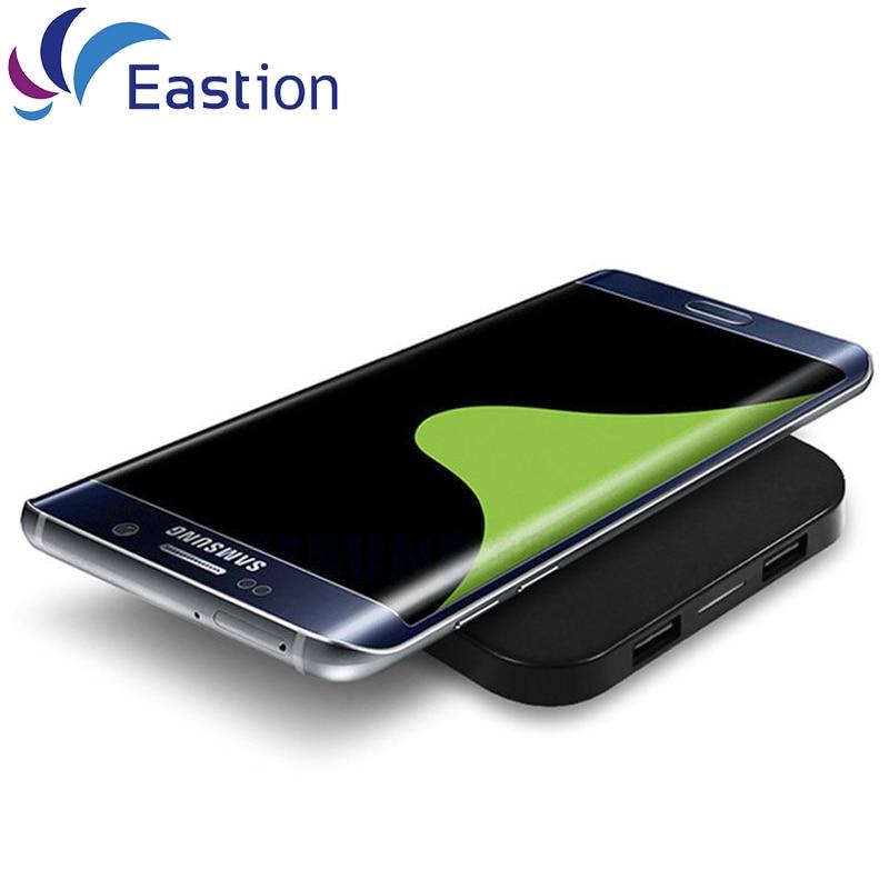 Pengisi Daya Nirkabel Qi untuk Samsung Galaxy S6 S7 S8 Tepi Adapter - Aksesori dan suku cadang ponsel - Foto 5
