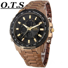 2016 Sport Role Watch Men Luxury Brand Male Watch Analog LED Digital Watches for Men Full Steel Men's Quartz Military Wristwatch