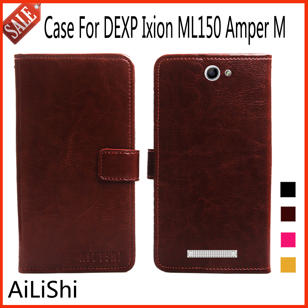 AiLiShi Flip Leather <font><b>Case</b></font> <font><b>For</b></font> <font><b>DEXP</b></font> <font><b>Ixion</b></font> <font><b>ML150</b></font> Amper M <font><b>Case</b></font> Fashion Protective Cover Phone Bag Wallet Accessory With Card Slot ! image