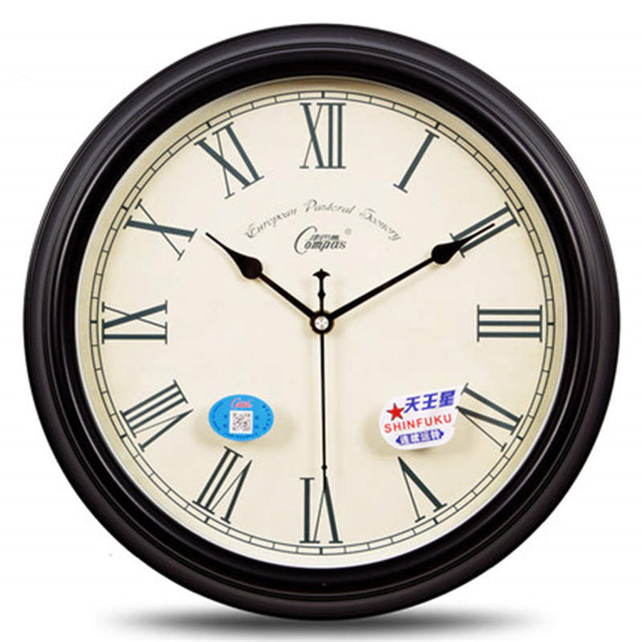 Creative Classic Wall Clock Silent Retro Round Living Room Art Large Decorative Wall Clocks European Reloj Cocina Pared C5T046