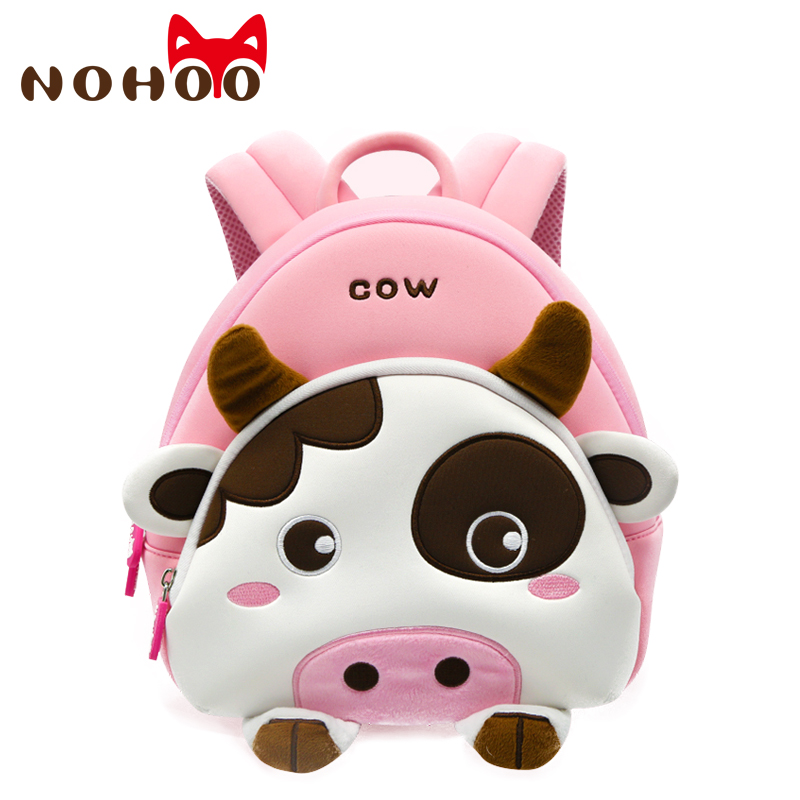 NOHOO Cartoon Kids Backpacks Mini Kindergarten Schoolbag Toddler Animal Backpack Children School Bags Girls Backpack