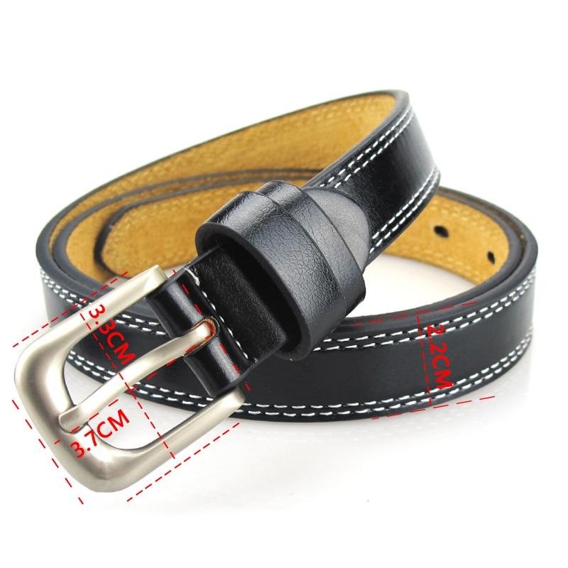 Top Quality Cowskin Leather Belts for Women Cummerbund Luxury Female Belt Decorative Simple Waist Belt Candy Color Drop Shipping 2