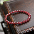 Wholesale Genuine Natural Red Strawberry Quartz Crystal Round Bead Stretch Charm Bracelet Women Femme 6mm Free Shipping