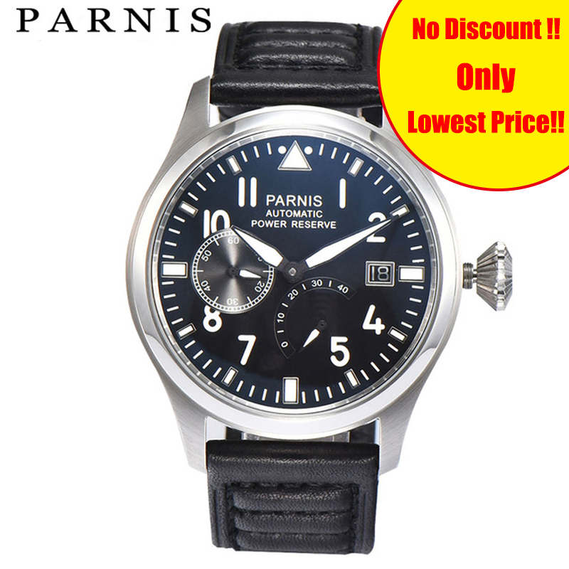 Fashion Men Watch Parnis Power Reserve Auto Date Mens Mechanical Watches Black Dial Sea-gull 2530 Automatic Movement WatchFashion Men Watch Parnis Power Reserve Auto Date Mens Mechanical Watches Black Dial Sea-gull 2530 Automatic Movement Watch