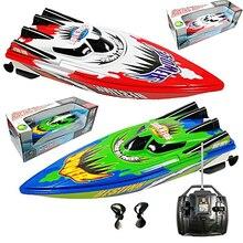 RC Racing Boats Hajó modell Nagy sebességű hajó távirányító játékok hajó játék gyors rc csónakok A legjobb születésnapi ajándék gyerekeknek