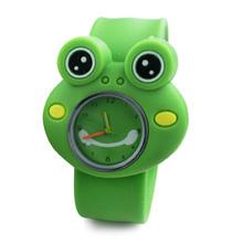 Digital Slap Watch Cute Frog Slap Watches for Kids Green LXH